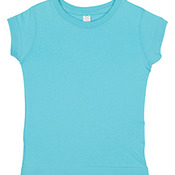 Toddler 4.5 oz. Girls' Fine Jersey Longer Length T-Shirt