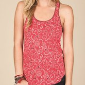 Women's Printed Meegs Eco-Jersey Racer Tank