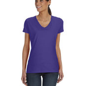 Ladies' 5 oz., 100% Heavy Cotton HD® V-Neck T-Shirt