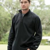 Quarter-Zip Flatback Mesh Fleece Pullover