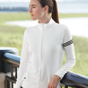 Women's ClimaLite® 3-Stripes French Terry Full-Zip Jacket