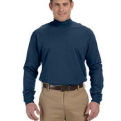 Sueded Cotton Jersey Mock Turtleneck