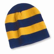 "Rugby Striped 8"" Knit Beanie"