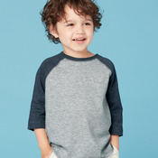 Fine Jersey Toddler Three-Quarter Sleeve Baseball T-Shirt