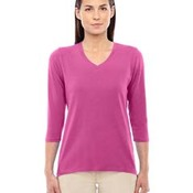 Ladies' Perfect Fit Bracelet Length V-Neck Top