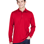 Adult Pinnacle Performance Long-Sleeve Piqué Polo with Pocket